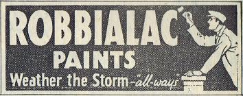Robbialac Paints - 1940