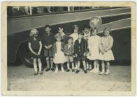 School trip to Harlech, 1962