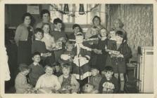 Santa Claus visiting Ysgol Cofadail, Trefenter,...