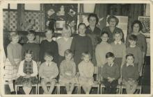 Pupils, teachers and dinner lady of Ysgol...