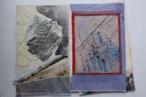 Images from a collage workshop at Ysgol Penweddig