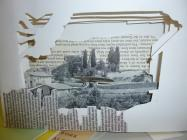 Book art object created during workshop run by...