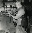 George Scammell in his workshop on Union Road,...