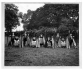 The Llanover harp choir at the Abergavenny...