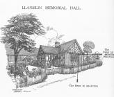 An illustration of Llansilin Memorial Hall