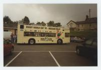 Rugby World Cup bus in Llanybydder 1999