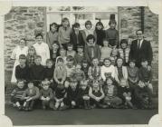 Pupils and staff at Llanwenog school 1967