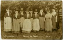 The Pageant of Gwent Women in Traditional...