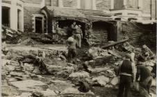 Storm damage Victoria Terrace Aberystwyth 1938
