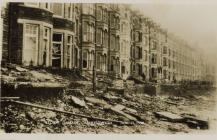 Storm damage Aberystwyth January 15 1938