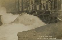 Storm damage Victoria Terrace,  Aberystwyth 1938