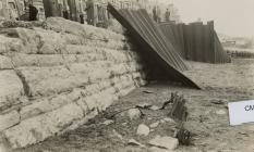 Storm damage to the Coffer dam Victoria Terrace...