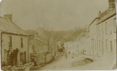 Clifton Street, Laugharne 1905