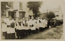 Flower Service Laugharne 1920s?