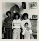 Mrs Pauline Pingue with her daughters and...