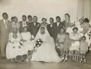 Wedding of Aston Thompson and Marian Hudson,...