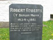 Carreg fedd Robert Roberts, Y Sgolor Mawr