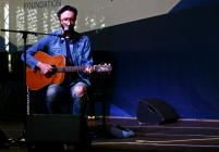Rhodri Broooks performing at the Wales...