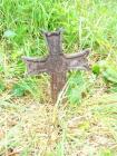 Cross on grave of Llanerch Colliery explosion...