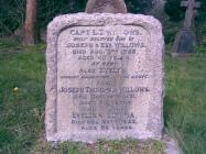 Headstone at Grave of Captain Ernest Willows