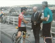 The winner of the Tour of Mid Wales Road Race 1988
