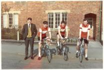 Ystwyth Cycle Club team at the Ellesmere Road...
