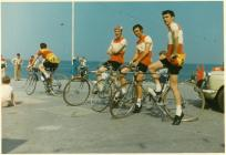 Ystwyth Cycle Club team at the start of the...