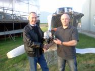 Tenby Lions donate equipment to Divegroup