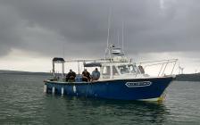 Blue Thunder over wrecksite