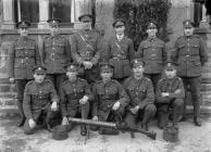 Welsh Regiment Soldiers with a Lewis Gun