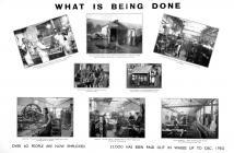 Poster depicting enterprises in Brynmawr in 1930
