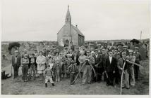 St Llawddog Churchyard, Penboyr grass cutting...