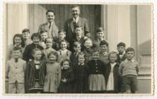 The village children in front of Bethel Chapel,...