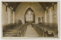 Interior of Llangeler Church 1910s