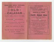 Sioe Cyµn ac Adar Cwm-pen-graig, 1902