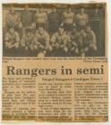 Bargod Rangers FC in semi final of Ceredigion...