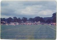 Bargod Rangers FC v Wrexham FC, opening of new...