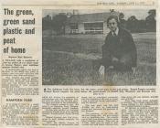 Bargod Rangers resurfacing Parc Puw, 1976-77