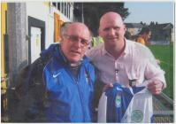 Glan 'Gos' Evans with John Hartson