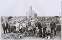 Grass cutting at St Llawddog Church, Penboyr