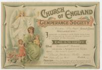 Temperance Declaration of Miss Hannah Evans,...