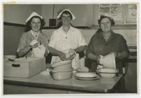 Penboyr School dinner staff. 1958-9