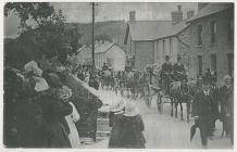 Funeral of Revd Gomer Lewis, Dre-fach Velindre,...