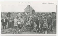 St Llawddog Churchyard: grass cutting, 1970s