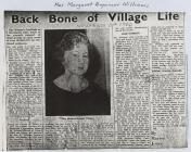 Margaret Brynmor Williams, Dre-fach Velindre
