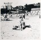 Shirley on the beach