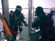 Divers aboard 'Blue Thunder' Buddy check