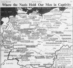 Map Showing Location of German POW Camps