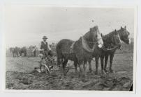 Farmer ploughing the land in The Camwy Valley