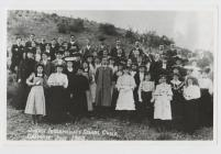 Intermediate school choir, Gaiman, 1908